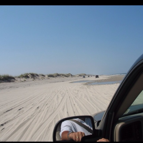 Beach is accessible by 4x4s only
